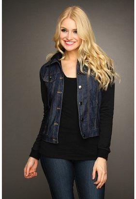 Gabriella Rocha Carson Sweater Sleeve Denim Jacket (Black/Blue) - Apparel