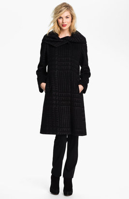 Cinzia Rocca Patterned Wool Blend Coat