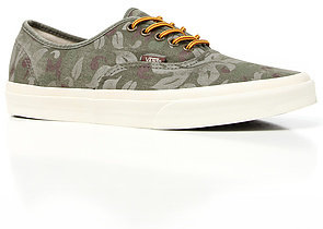 Camo Vans Footwear The Authentic CA Sneaker in Floral Olive Night