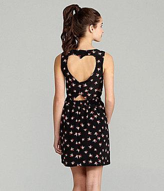 Takara Bird-Print Cutout Dress