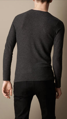 Burberry Cashmere Ribbed Henley