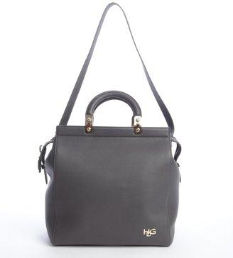 Givenchy grey eather 'HDG' convertible tote bag