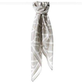 Banana Republic Silk BR logo scarf