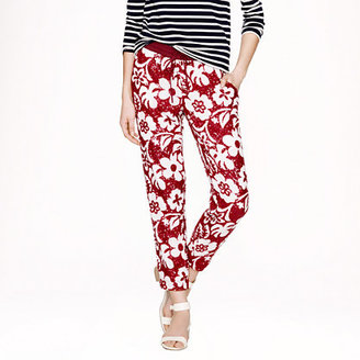 J.Crew Collection tropical sequin pant