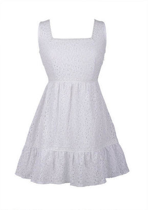 Delia's White Crochet Inset Dress