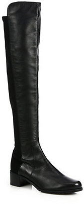 Stuart Weitzman Reserve Leather Knee-High Boots