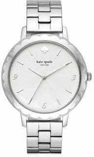 Kate Spade Metro Scalloped Three-Hand Stainless Steel Bracelet Watch