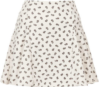 Topshop Mini daisy godet skirt