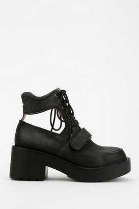 Jeffrey Campbell Exit Cutout Lace-Up Boot