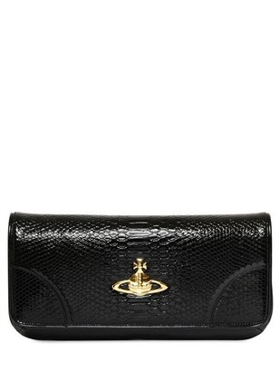 Vivienne Westwood Snake Print Faux Leather Clutch