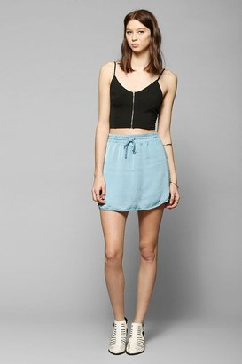 Urban Outfitters Band Of Gypsies Sporty Silky Mini Skirt