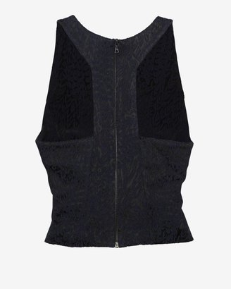 Intermix Exclusive For Crop Sleeveless Jacquard Blouse