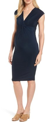 Isabella Oliver 'Carla' Knot Front Jersey Maternity Dress