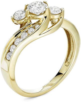 MODERN BRIDE Love Lives Forever 1 CT. T.W. Diamond 10K Yellow Gold Ring $3,000 thestylecure.com