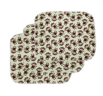 Carter's 3-pk. keep-me-dry monkey flannel lap pads