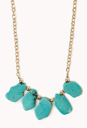 Forever 21 Free Spirit Natural Stone Necklace