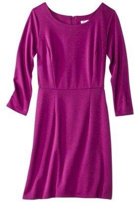 Xhilaration Juniors 3/4 Sleeve Ponte Knit Dress - Assorted Colors