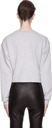 Maison Martin Margiela Heather Grey Cropped Sweatshirt