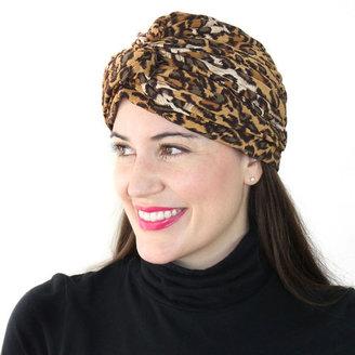 Cheeky Vintage Leopard Print Turban