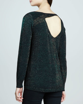 Nanette Lepore Warp Speed Shimmery Sweater