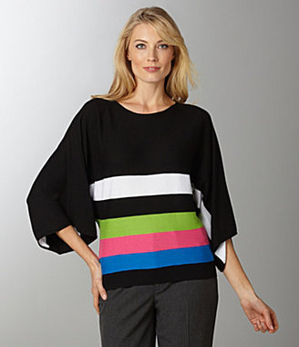 Peter Nygard Knit Colorblock Top