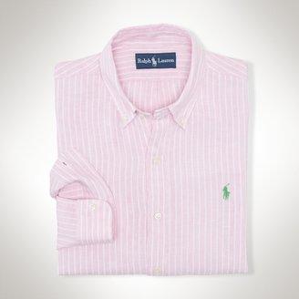 Polo Ralph Lauren Slim-Fit Linen Stripe Shirt