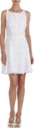 Nina Ricci Sleeveless Lace Dress with Sheer Back