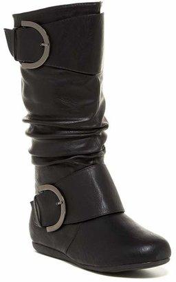 Top Moda Bank Mid Knee Flat Boot