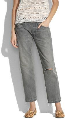 Chimala Grey Distressed Ankle Pants