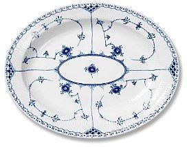 Royal Copenhagen Blue Fluted Half Lace Oval Platter, Large