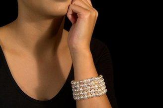 Ice.com 7-8mm Multi-Pink Freshwater Pearl Bracelet