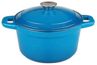 5 Qt Cast Iron Covered Stockpot, Blue