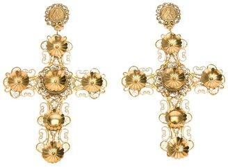 Dolce & Gabbana ornate cross earrings