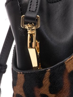 Burberry Calf hair and leather crush bag