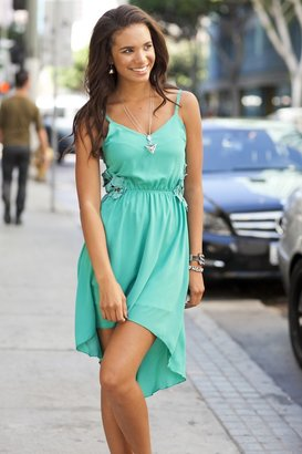 Vijo Couture Lace Side Dress
