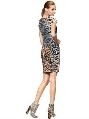 Just Cavalli Leopard Print Thick Jersey Dress