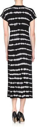 Neiman Marcus Tie-Dye Maxi Dress, Black/Concrete
