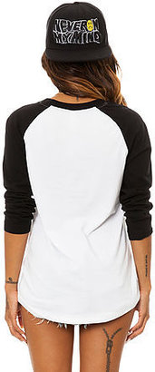Crooks & Castles Crooks and Castles The Flowerbomb Baseball Tee in White