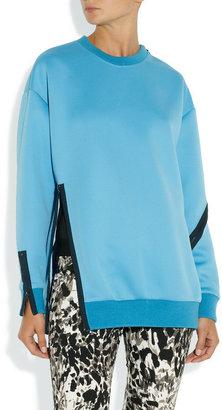 3.1 Phillip Lim Zip-trimmed Techno neoprene sweatshirt