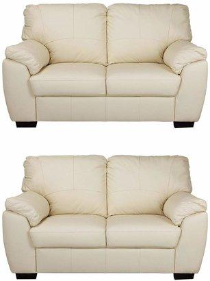 Argos Home Milano Pair of Leather 2 Seater Sofa