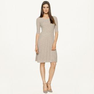 Ralph Lauren Black Label Pointelle Cashmere Dress