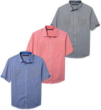 Sean John Shirt Big and Tall, Gingham Check Shirt