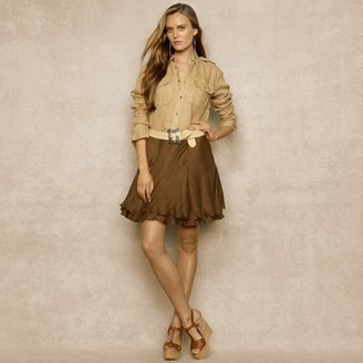 Ralph Lauren Blue Label New Marina Silk Chiffon Skirt