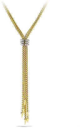 David Yurman Willow Tassel Necklace with Diamonds in Gold