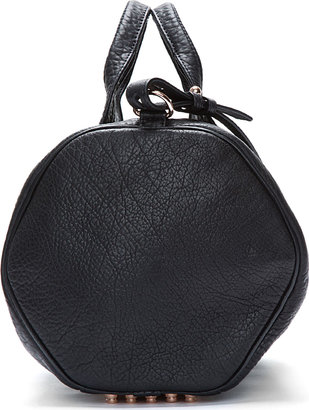 Alexander Wang Black Leather & Rose-Gold Rocco Duffle Bag