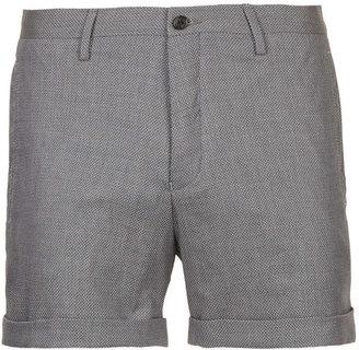 Topman Navy Dreyfus Print Micro Shorts