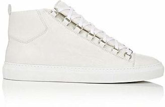 Balenciaga Men's Arena Leather Sneakers - White