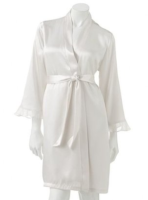 Apt. 9 beaded lace bridal solid satin wrap robe