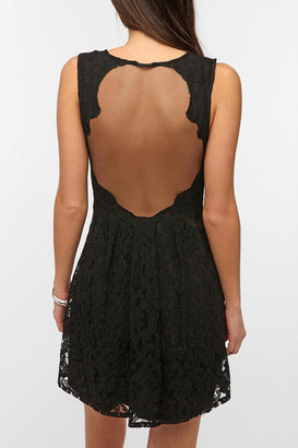 Urban Outfitters Pins And Needles Lace Sheer-Back Dress