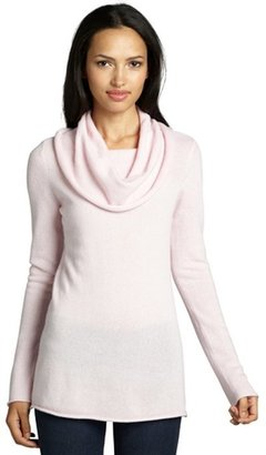 Magaschoni pale pink cashmere cowl neck tunic sweater